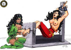 Wondergirl meets her ticklish DOOM by ComicTicklingCollect