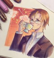 Coffee Break with Jaehee by Crokyto