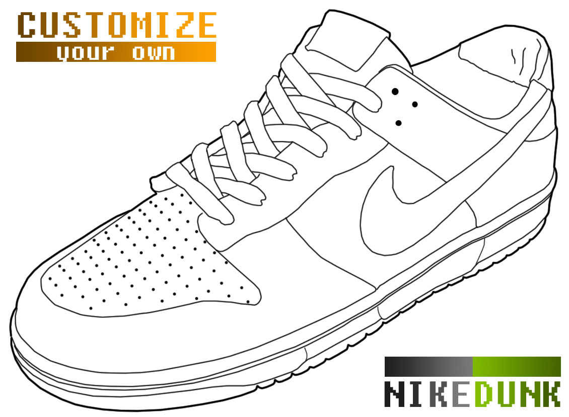 Tênis nike dunk - template para customizar