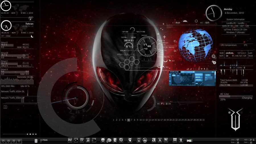 alienware rainmeter by lordrv