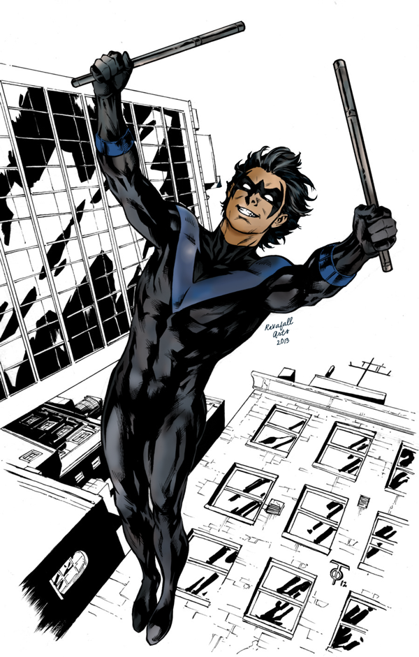 Nightwing Digital Painting by RevafallArts