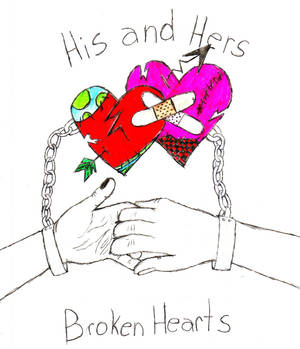 His and Hers broken hearts
