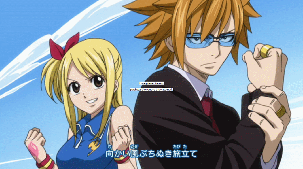 Loke and Lucy gif by Adelaide-Chrome on DeviantArt
