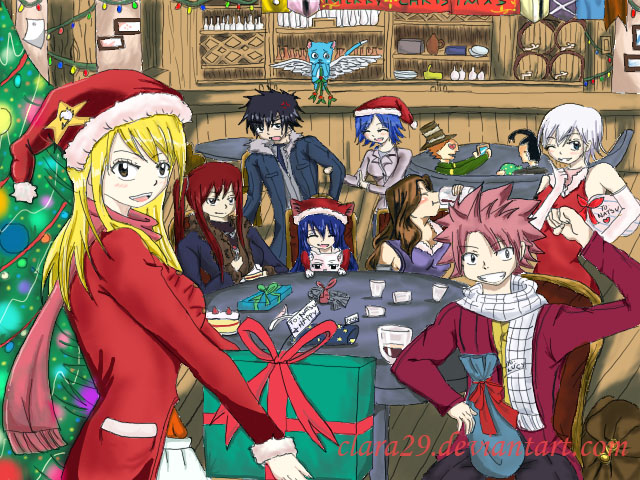 fairy tail anime christmas wallpaper - photo #6