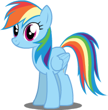 Rainbow Dash Vector by PerlaVectors