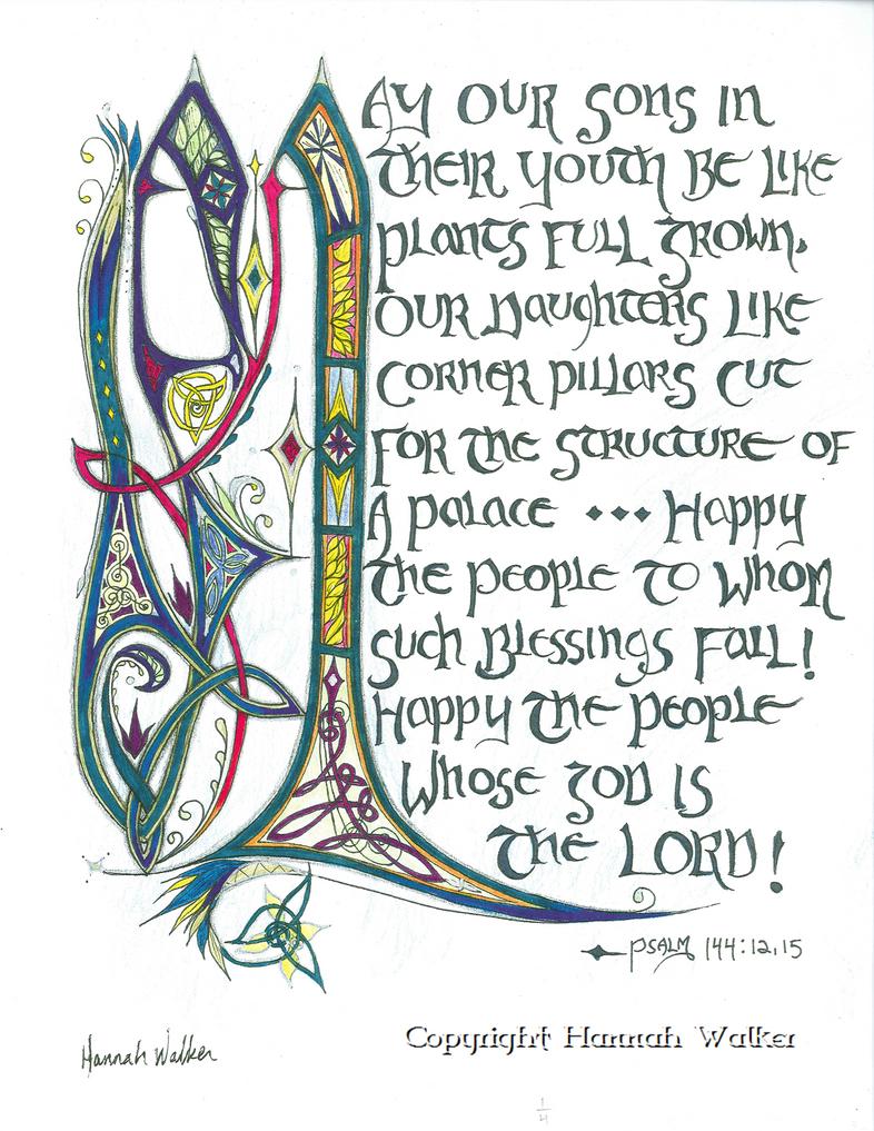 Psalm 144:12, 15 by Eluminora