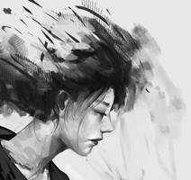 Sketch girl by ayasakiikusaa