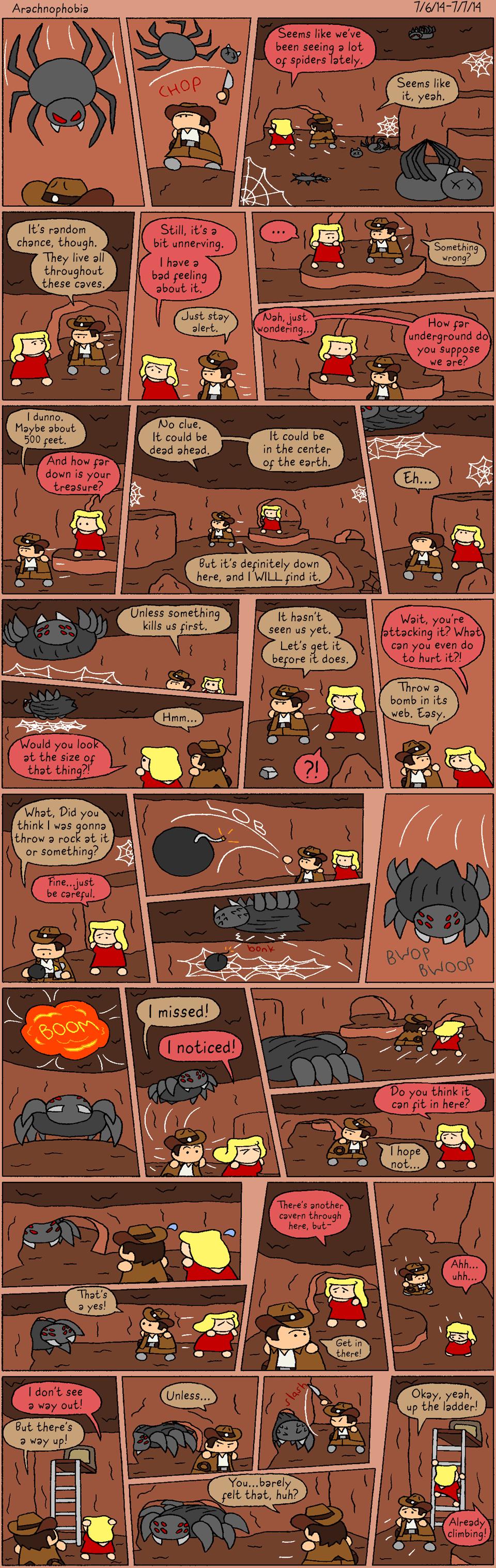 1-9 Arachnophobia by halibabica