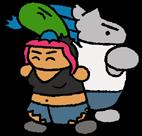 Trixy, Wellington, and Squeeb by halibabica