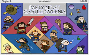 Ch.2: Party Up at Castle Gwernia by halibabica
