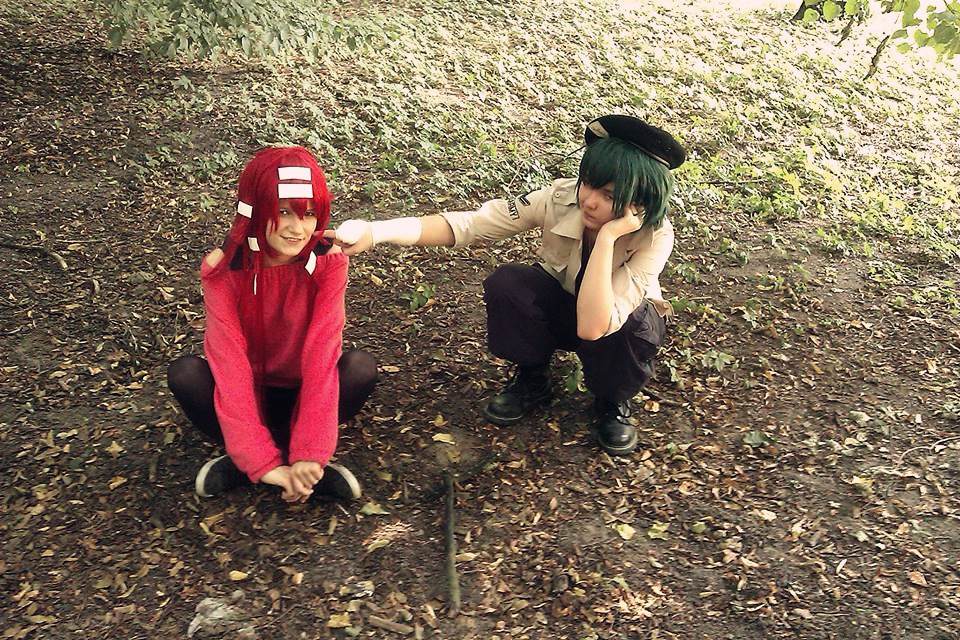 Flaky and Flippy cosplay (Happy Tree Friends) by ...