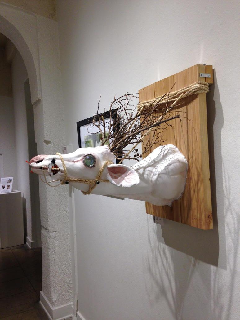 Ollie the Albino Deer by artistdarleese