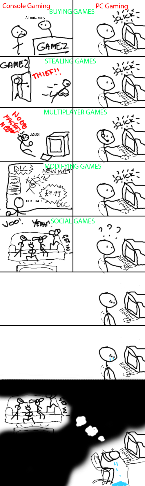 PC Gamers vs. Console Gamers... - 9GAG |Pc Gamers Vs Console Gamers
