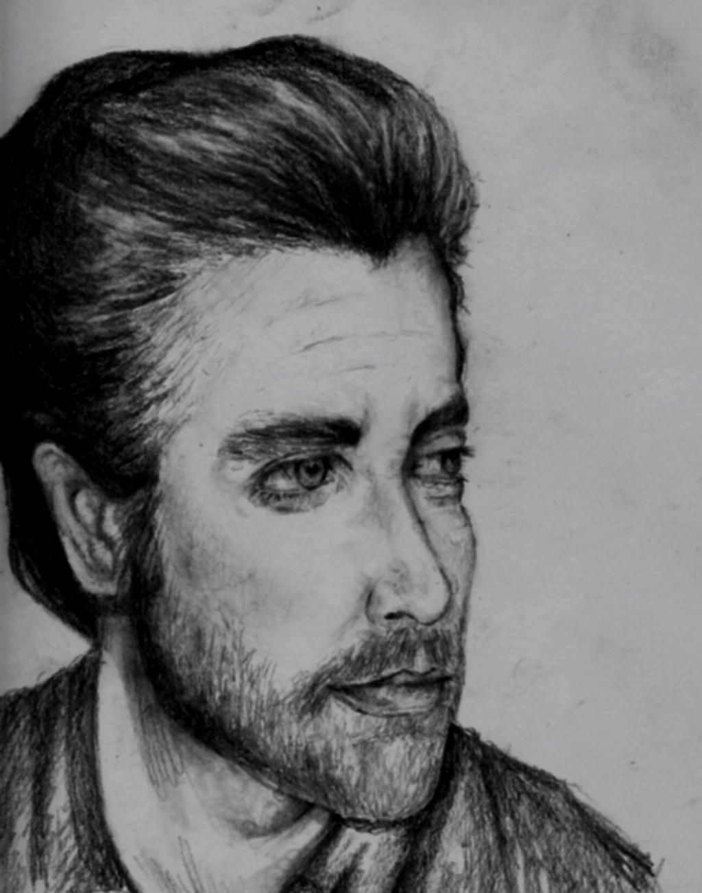 Drawing of Jake Gyllenhaal by FreshOutaFriends