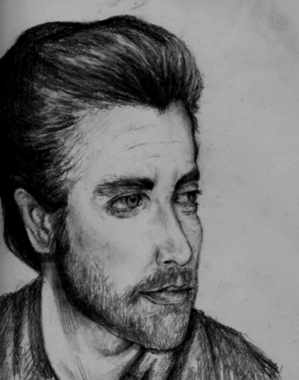 Drawing of Jake Gyllenhaal by FreshOutaFriends