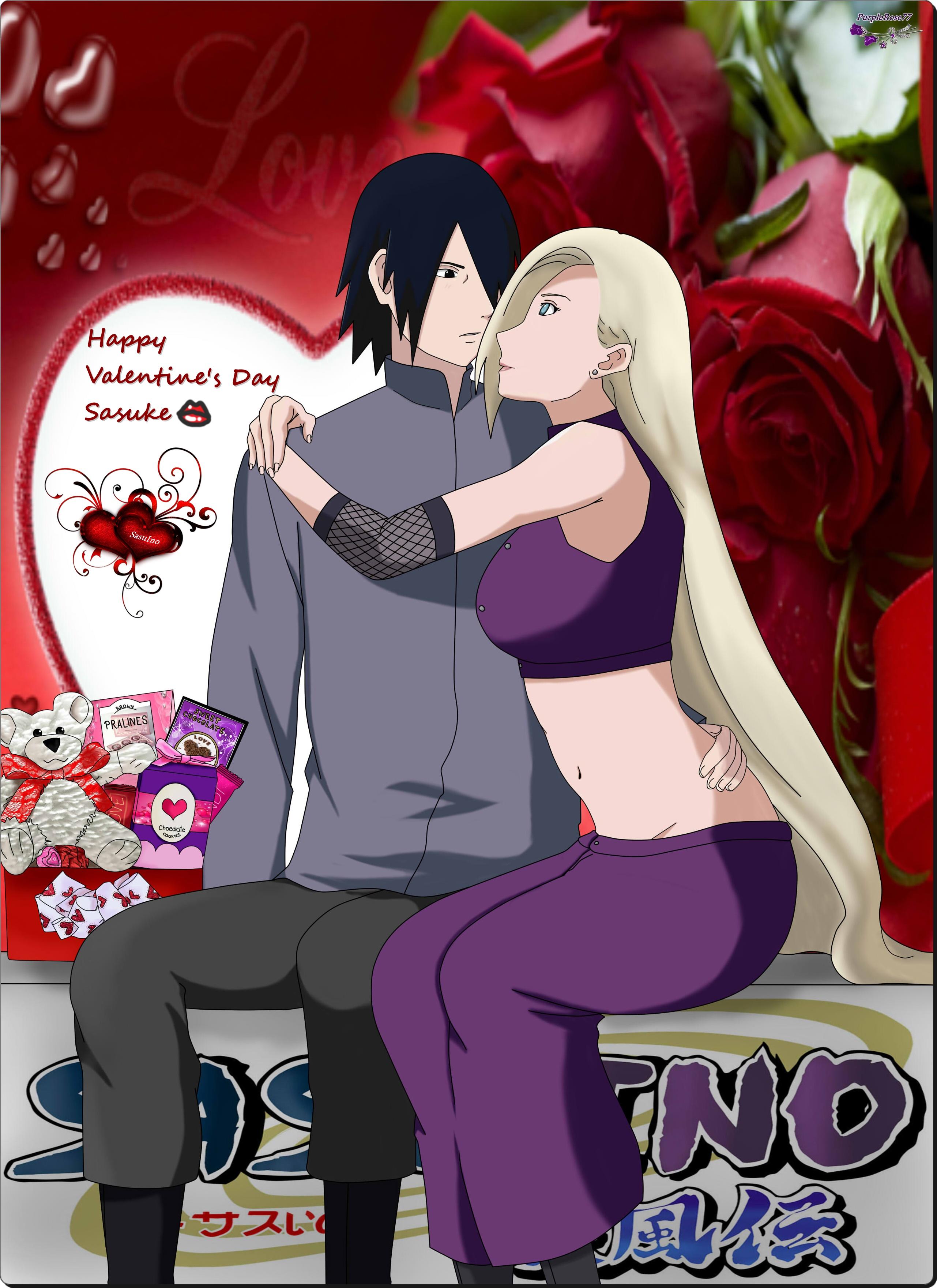 SasuIno ~Happy Valentine's Day~ by PurpleRose77 on DeviantArt  SasuIno ~Happy ...