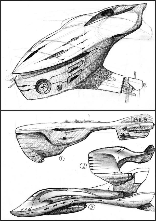sci-fi ships by danielvijoi