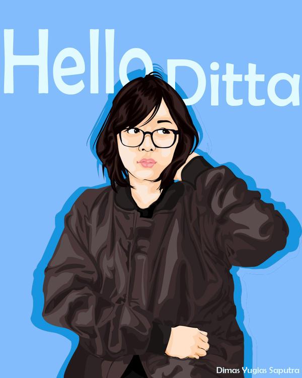 Hello Ditta Vector Vexel by dimasyugias96