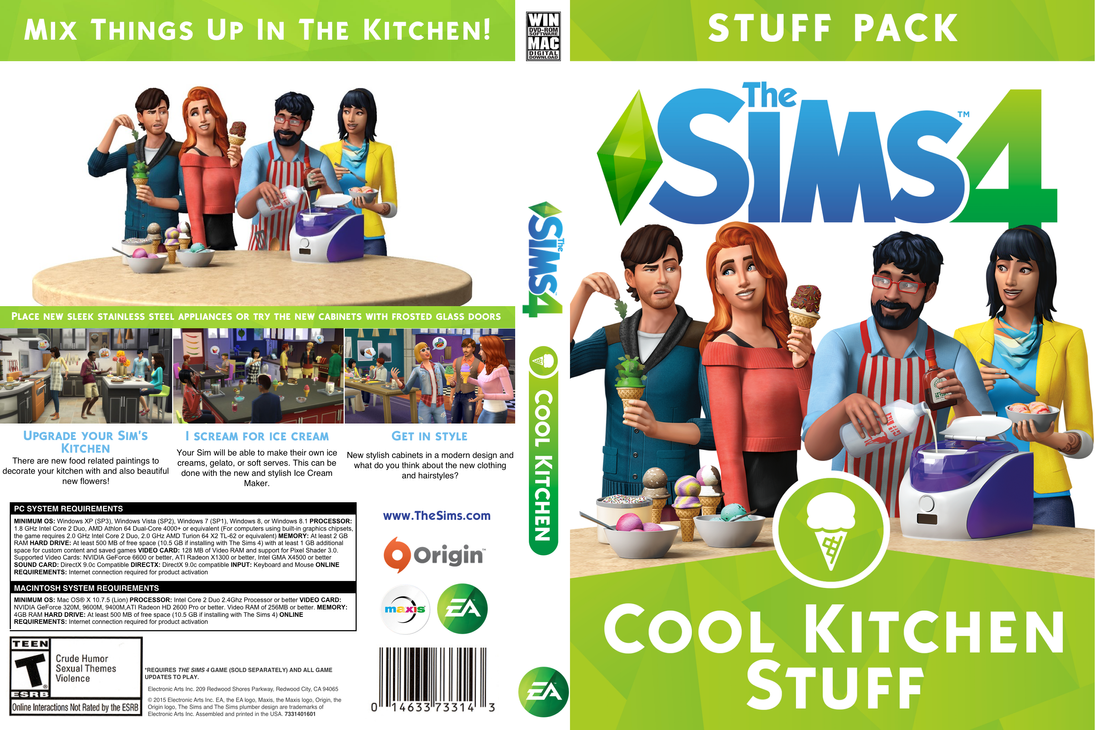 Sims  Kitchen Room Sets