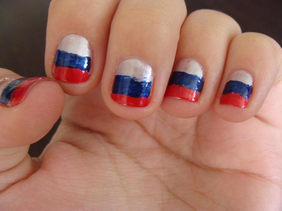 Russian Flag Nails By Sammyrae On Deviantart
