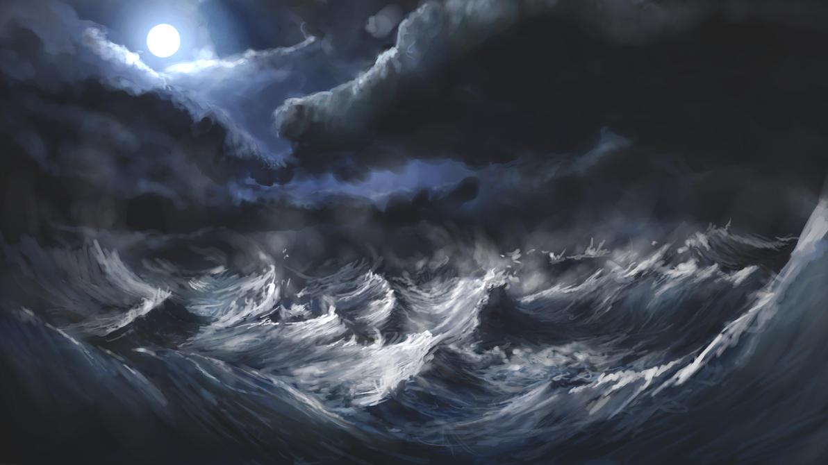 Stormy Sea By Alexlinde On DeviantArt