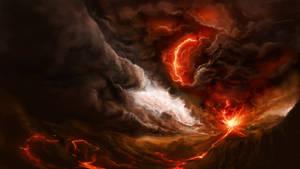 Volcanic Planet by Alexvanderlinde
