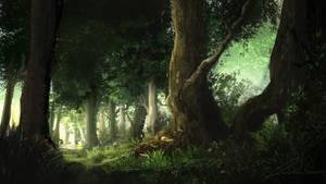 Forest Path by Alexvanderlinde