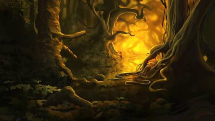Golden Swamp by Alexvanderlinde
