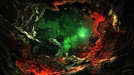 Space Cave by Alexvanderlinde