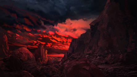 Red Sunset by Alexvanderlinde