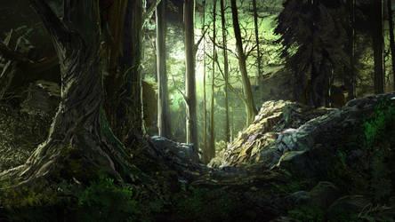 Bright Forest by Alexvanderlinde