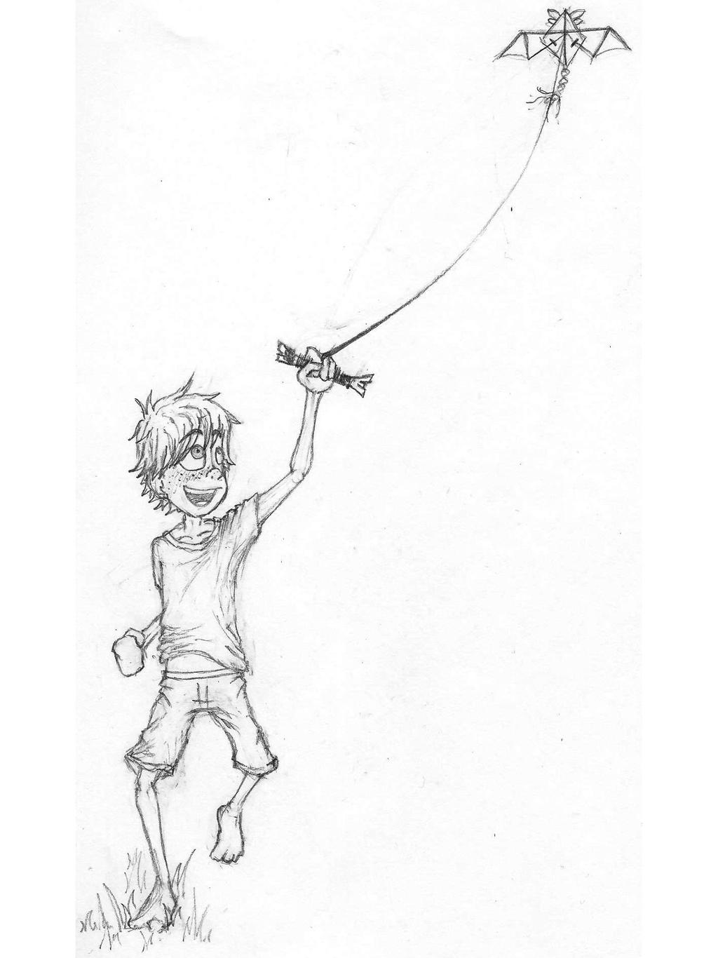 kite flying coloring page alltoys for