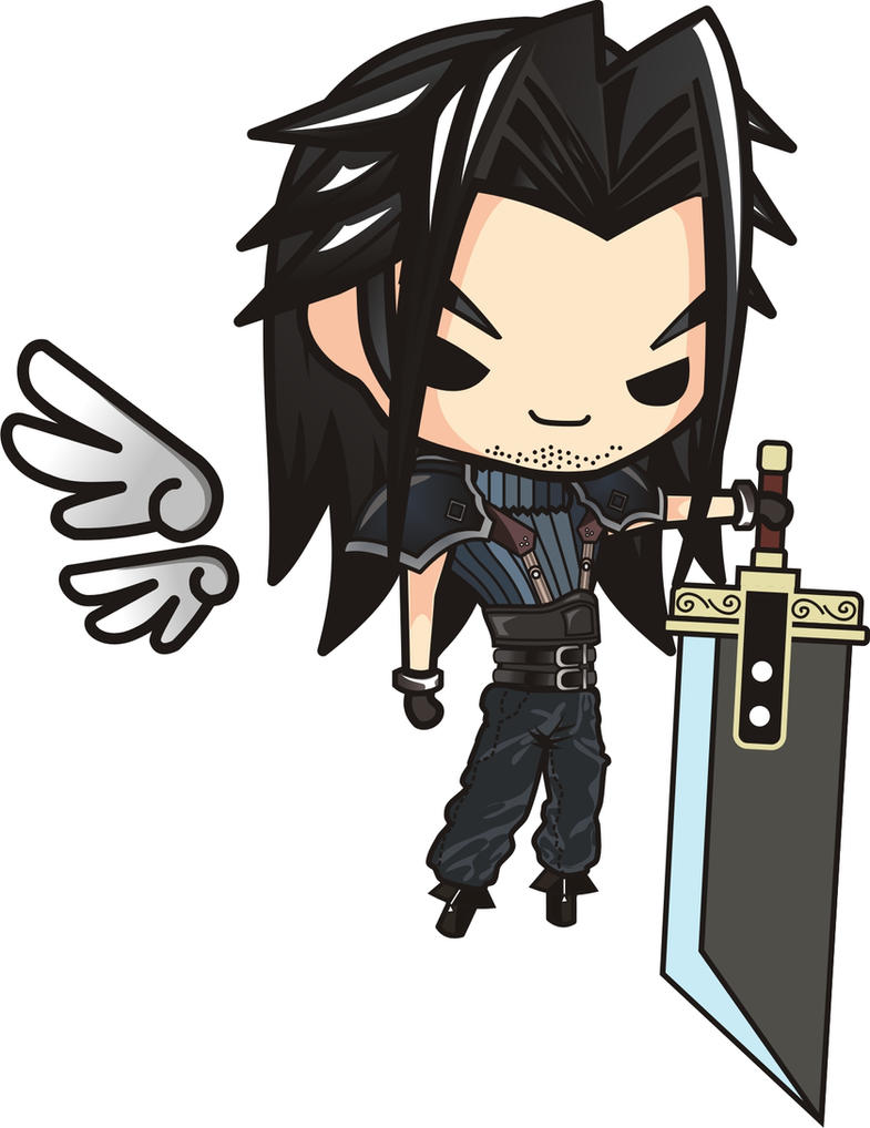 Final Fantasy 7 Angeal Hewley Chibi by houssamica