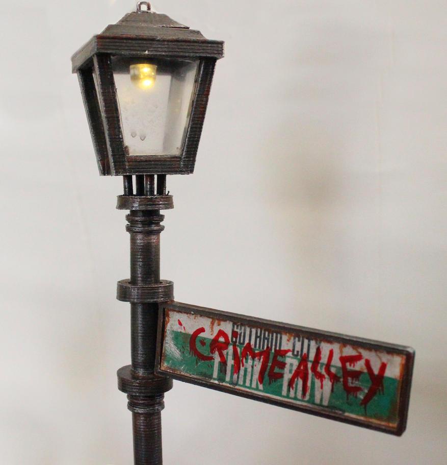Batman of Zur-En-Arrh and Bat-Mite Streetlight by houssamica