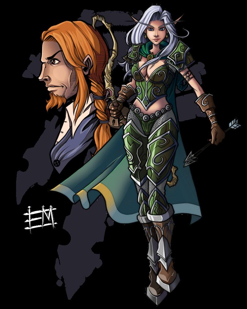 Vereesa and Rhonin by EdMoffatt
