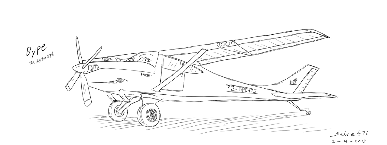 [OLD ART] Bype The Bush Plane by Sabre471