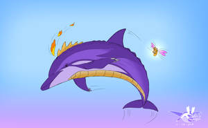 Spyro as a Dolphin by Sabre471