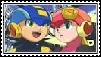 Rockman X Roll stamp by SatoharuDaikari