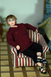 miniature 1/12 scale Bjd doll portrait