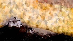 Shanti Stupa  (digital painting)
