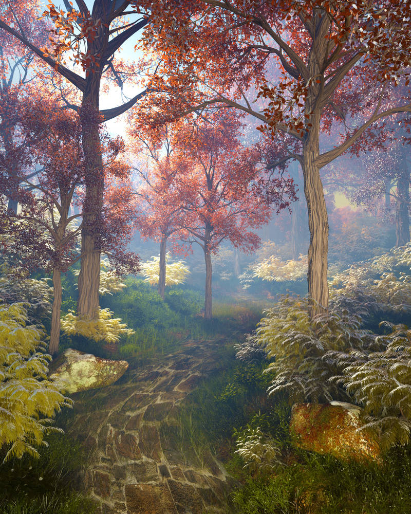 Magic in the autumn forest