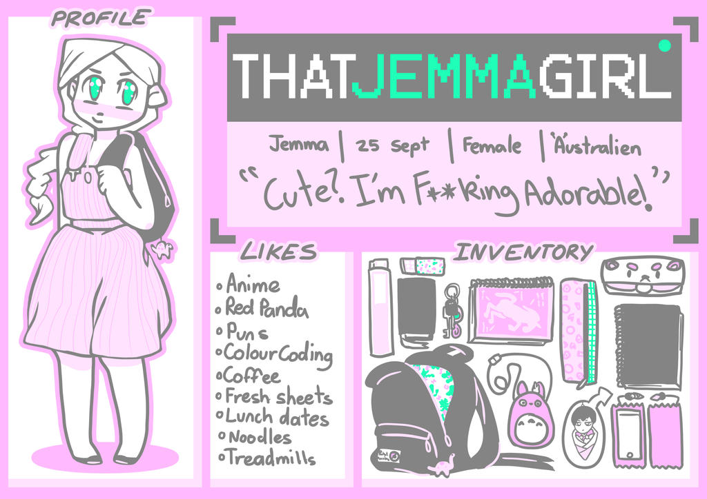 Meet the Artist - ThatJemmaGirl by ThatJemmaGirlDraws