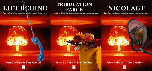 the Lift Behind trilogy covers by heraldodelmoro