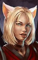 Female Elf Neko Lg by Ruloc