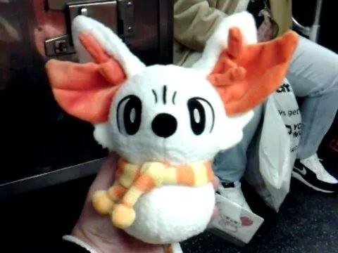 Kazzy Charity: Snowman Fennekin Plushie by HinataFox790