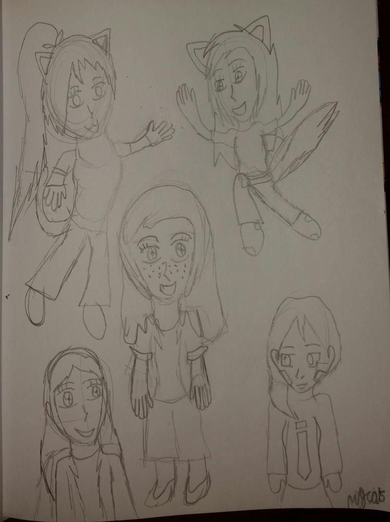 Chibi Doodles by HinataFox790
