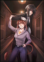 Butler And Mistress color Vermeillerose by HinataFox790