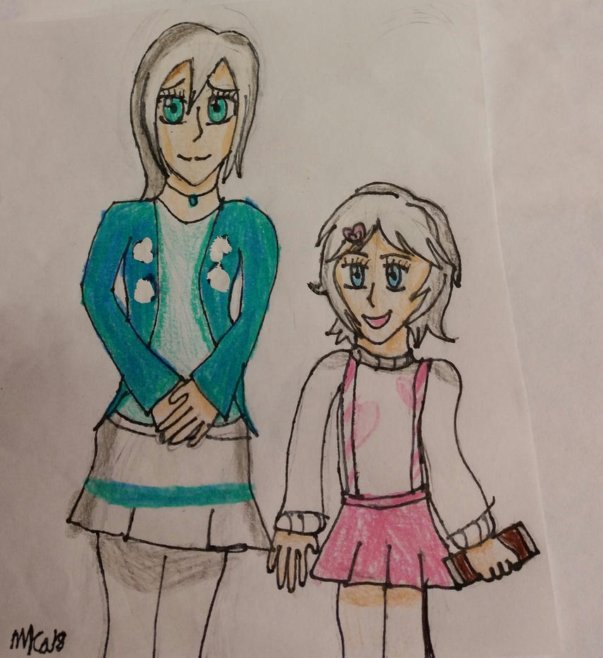 Art Trade: Sister Sister by HinataFox790