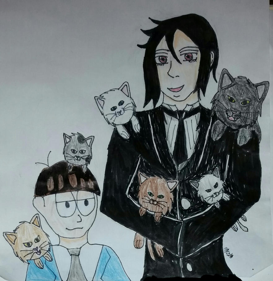 Art Trade: Playing With Cats 2018 by HinataFox790
