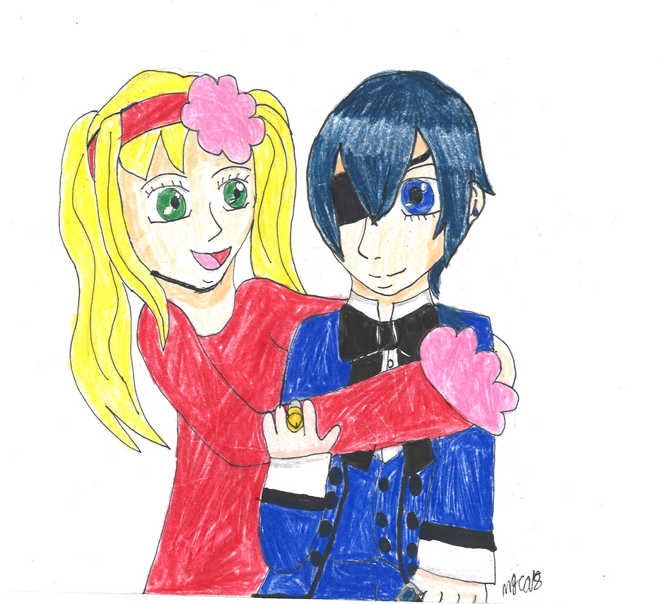 Art Trade: Ciel And Lizzie by HinataFox790